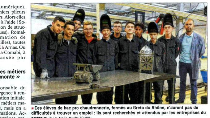 Article Progrès 20181006 - Greta et Chaudronnerie.jpg
